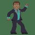 🕺🏾 man dancing: medium-dark skin tone Emoji on Joypixels Platform