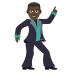 🕺🏿 man dancing: dark skin tone Emoji on Joypixels Platform