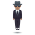 🕴🏽 man in suit levitating: medium skin tone Emoji on Joypixels Platform