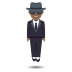 🕴🏾 man in suit levitating: medium-dark skin tone Emoji on Joypixels Platform