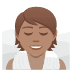 🧖🏽 person in steamy room: medium skin tone Emoji on Joypixels Platform
