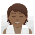 🧖🏾 person in steamy room: medium-dark skin tone Emoji on Joypixels Platform