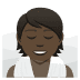 🧖🏿 person in steamy room: dark skin tone Emoji on Joypixels Platform