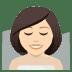 🧖🏻♀️ woman in steamy room: light skin tone Emoji on Joypixels Platform