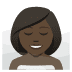 🧖🏿♀️ woman in steamy room: dark skin tone Emoji on Joypixels Platform