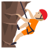 🧗🏼 person climbing: medium-light skin tone Emoji on Joypixels Platform
