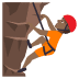🧗🏾 Medium Dark Skin Tone Person Rock Climbing Emoji on JoyPixels Platform