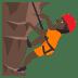 🧗🏿 person climbing: dark skin tone Emoji on Joypixels Platform