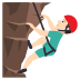 🧗🏻‍♂️ man climbing: light skin tone Emoji on Joypixels Platform