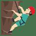 🧗🏻♂️ Light Skin Tone Man Rock Climbing Emoji on JoyPixels Platform