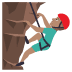 🧗🏽♂️ man climbing: medium skin tone Emoji on Joypixels Platform