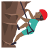 🧗🏾♂️ man climbing: medium-dark skin tone Emoji on Joypixels Platform