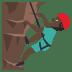 🧗🏿♂️ Dark Skin Tone Man Rock Climbing Emoji on JoyPixels Platform