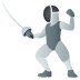 🤺 person fencing Emoji on Joypixels Platform