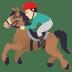 🏇🏻 horse racing: light skin tone Emoji on Joypixels Platform