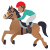 🏇🏽 horse racing: medium skin tone Emoji on Joypixels Platform