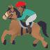 🏇🏾 horse racing: medium-dark skin tone Emoji on Joypixels Platform