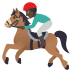 🏇🏿 horse racing: dark skin tone Emoji on Joypixels Platform