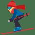 ⛷️ Person Skiing Emoji on JoyPixels Platform