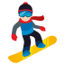 🏂🏻 snowboarder: light skin tone Emoji on Joypixels Platform