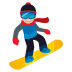 🏂🏼 snowboarder: medium-light skin tone Emoji on Joypixels Platform