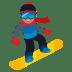 🏂🏽 snowboarder: medium skin tone Emoji on Joypixels Platform