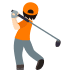 🏌🏻 person golfing: light skin tone Emoji on Joypixels Platform
