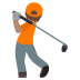 🏌🏽 person golfing: medium skin tone Emoji on Joypixels Platform