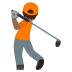 🏌🏾 person golfing: medium-dark skin tone Emoji on Joypixels Platform