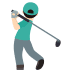 🏌🏻‍♂️ man golfing: light skin tone Emoji on Joypixels Platform