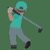 🏌🏽♂️ man golfing: medium skin tone Emoji on Joypixels Platform
