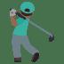 🏌🏾♂️ Medium Dark Skin Tone Man Golfing Emoji on JoyPixels Platform