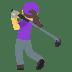 🏌️♀️ woman golfing Emoji on Joypixels Platform