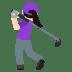 🏌🏻♀️ woman golfing: light skin tone Emoji on Joypixels Platform