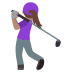 🏌🏽‍♀️ woman golfing: medium skin tone Emoji on Joypixels Platform