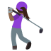🏌🏾‍♀️ Medium Dark Skin Tone Woman Golfing Emoji on JoyPixels Platform