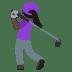 🏌🏿♀️ woman golfing: dark skin tone Emoji on Joypixels Platform