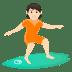🏄🏻 person surfing: light skin tone Emoji on Joypixels Platform