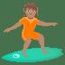 🏄🏽 person surfing: medium skin tone Emoji on Joypixels Platform