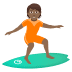 🏄🏾 person surfing: medium-dark skin tone Emoji on Joypixels Platform