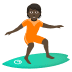 🏄🏿 person surfing: dark skin tone Emoji on Joypixels Platform