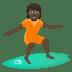 🏄🏿 person surfing: dark skin tone Emoji on Joypixels Platform