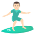 🏄🏻‍♂️ man surfing: light skin tone Emoji on Joypixels Platform