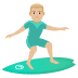 🏄🏼‍♂️ man surfing: medium-light skin tone Emoji on Joypixels Platform