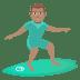 🏄🏽♂️ man surfing: medium skin tone Emoji on Joypixels Platform