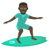 🏄🏿‍♂️ man surfing: dark skin tone Emoji on Joypixels Platform