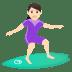 🏄🏻♀️ woman surfing: light skin tone Emoji on Joypixels Platform