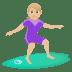 🏄🏼♀️ woman surfing: medium-light skin tone Emoji on Joypixels Platform