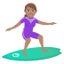 🏄🏽‍♀️ Medium Skin Tone Woman Surfing Emoji on JoyPixels Platform
