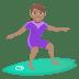 🏄🏽♀️ woman surfing: medium skin tone Emoji on Joypixels Platform